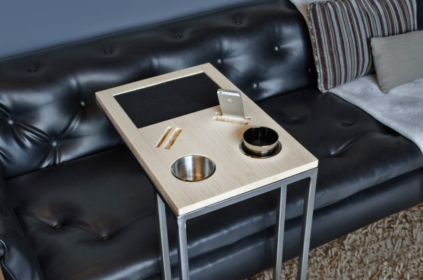 Caddy You And Your Sofas Best Friend Design Milk With Regard To Sofa Drink Tables (View 10 of 15)
