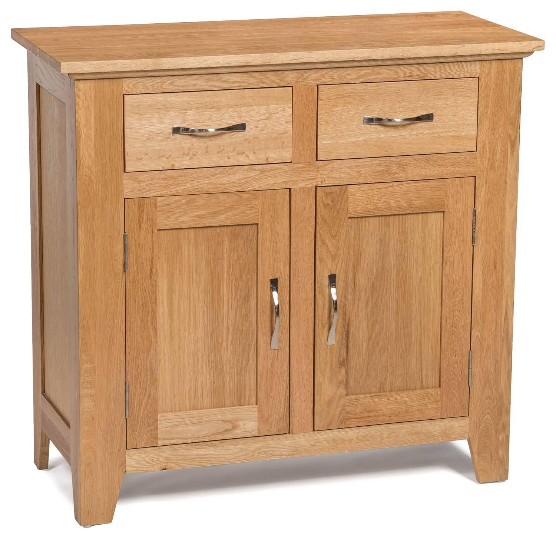 Camberley Oak Small 2 Door 2 Drawer Sideboard – Sideboards & Tops In Light Oak Sideboards (View 10 of 20)