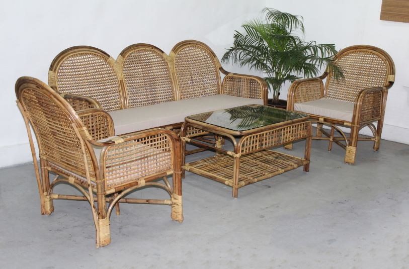 Cane Furniture Cane Sofaset Rattan Sofaset And Bamboo Sofaset Pertaining To Bambo Sofas (View 3 of 15)
