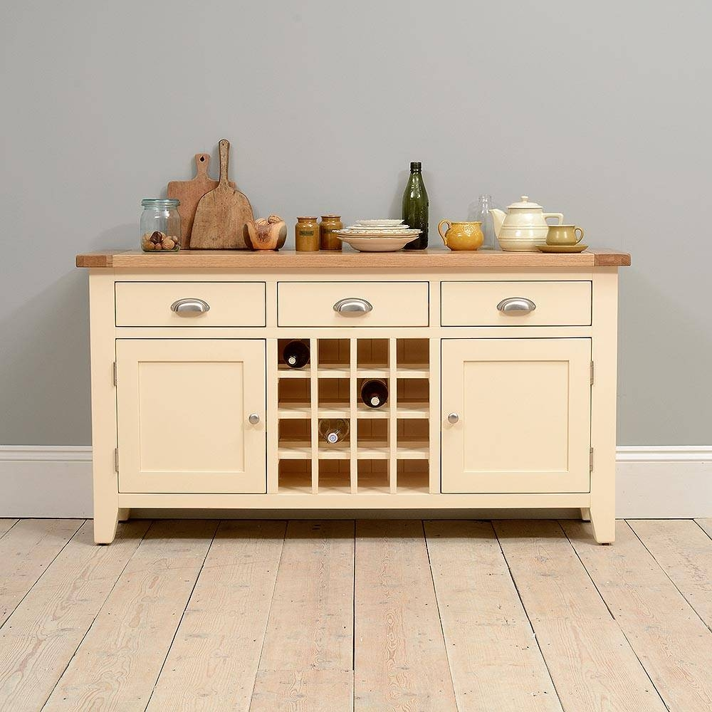 Canterbury Cream Sideboard With Wine Rack Including Free Delivery Inside Cream Sideboard (#3 of 20)