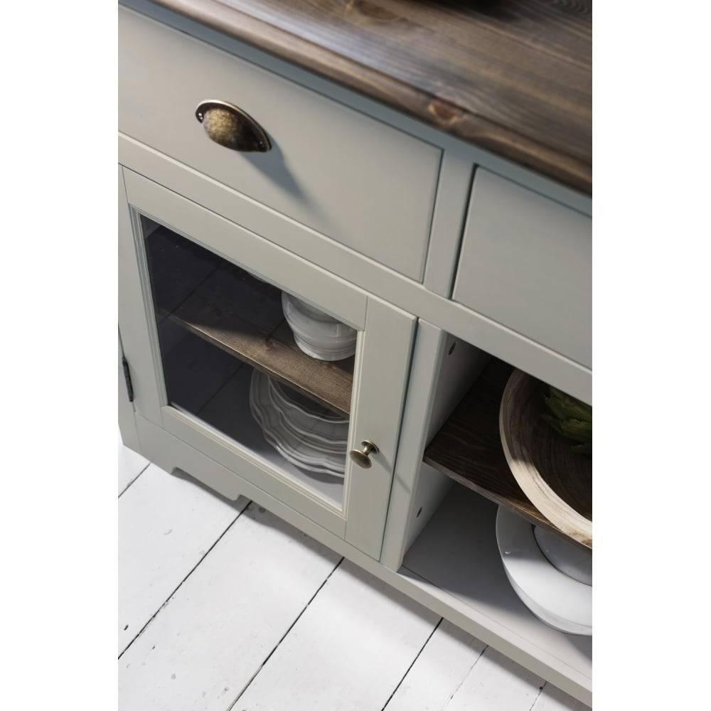 Canterbury Sideboard In Silk Grey And Dark Pine | Noa & Nani Pertaining To Dark Grey Sideboard (#10 of 20)