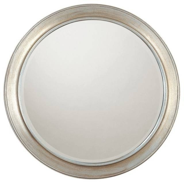 Capital Lighting Winter Gold Frame Round Mirror Beveled Mirror Inside Silver Round Mirrors (#11 of 30)