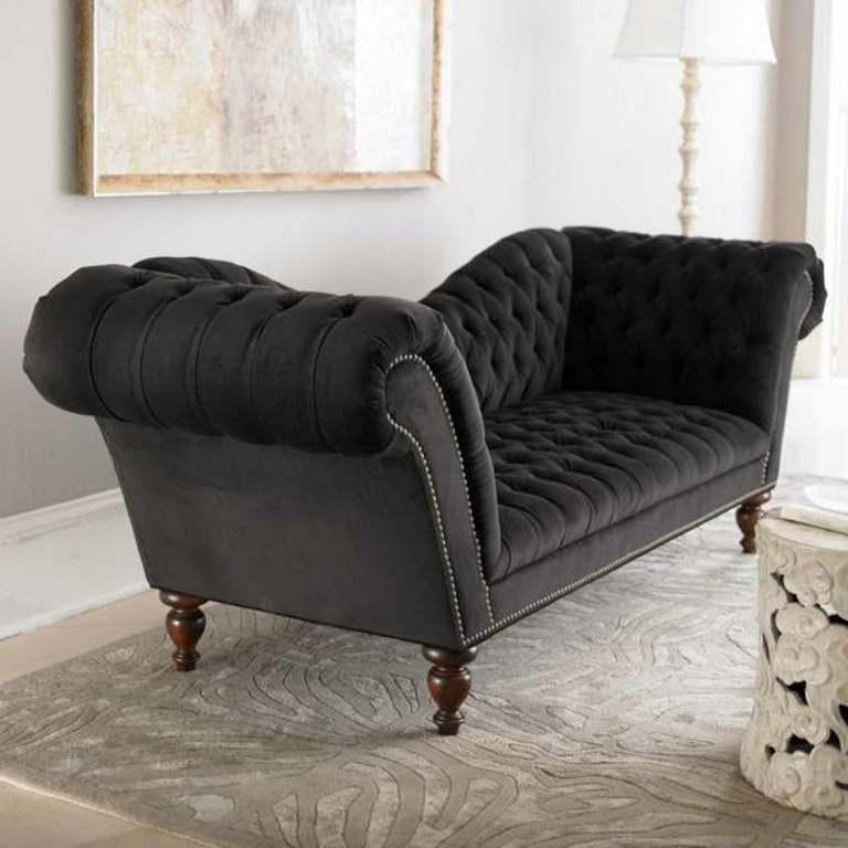 Captivating Velvet Sofa Designs Rilane Within Black Velvet Sofas (#6 of 15)