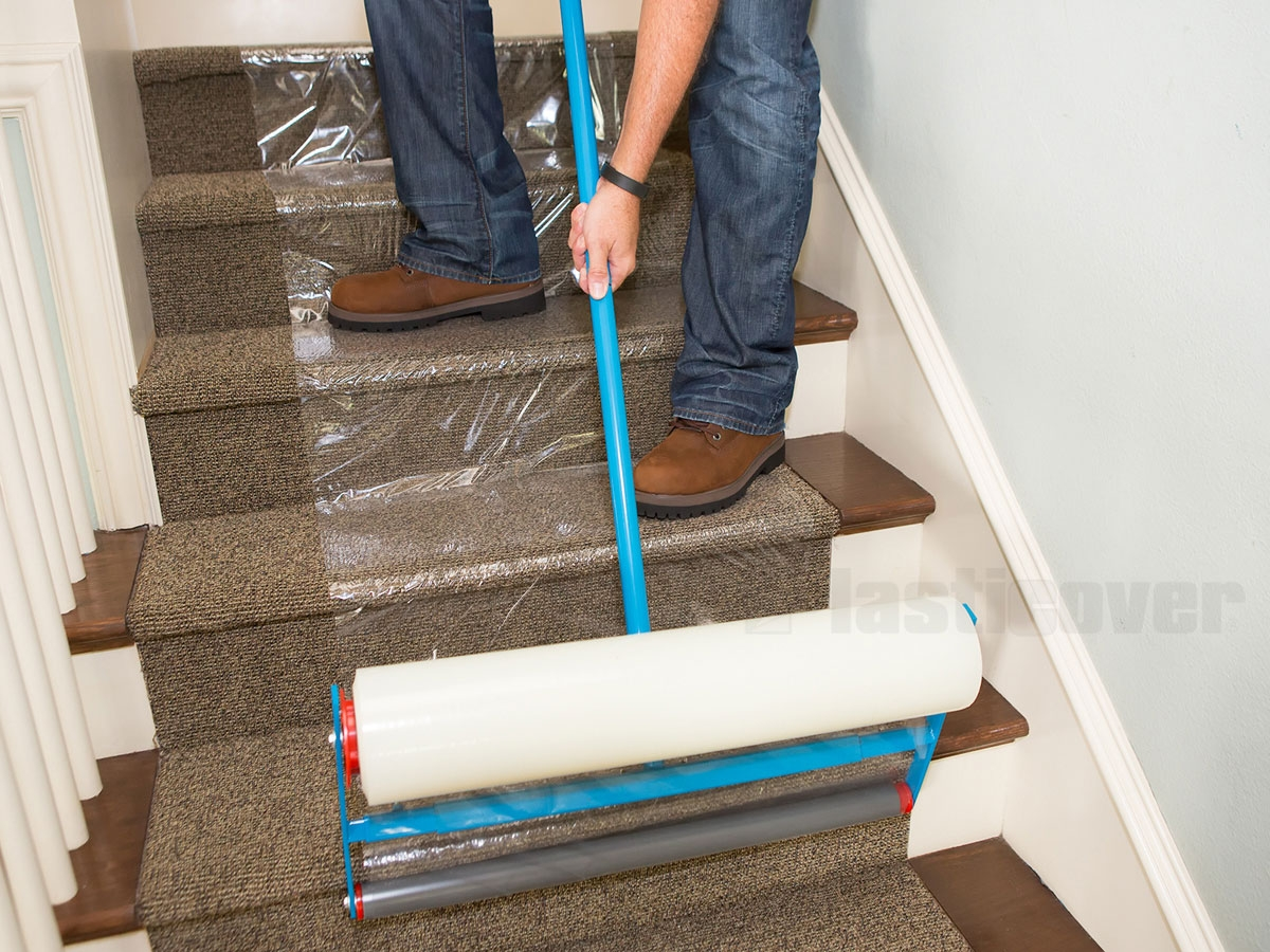 Carpet Protection Film Inside Stick On Carpet For Stairs (#6 of 20)