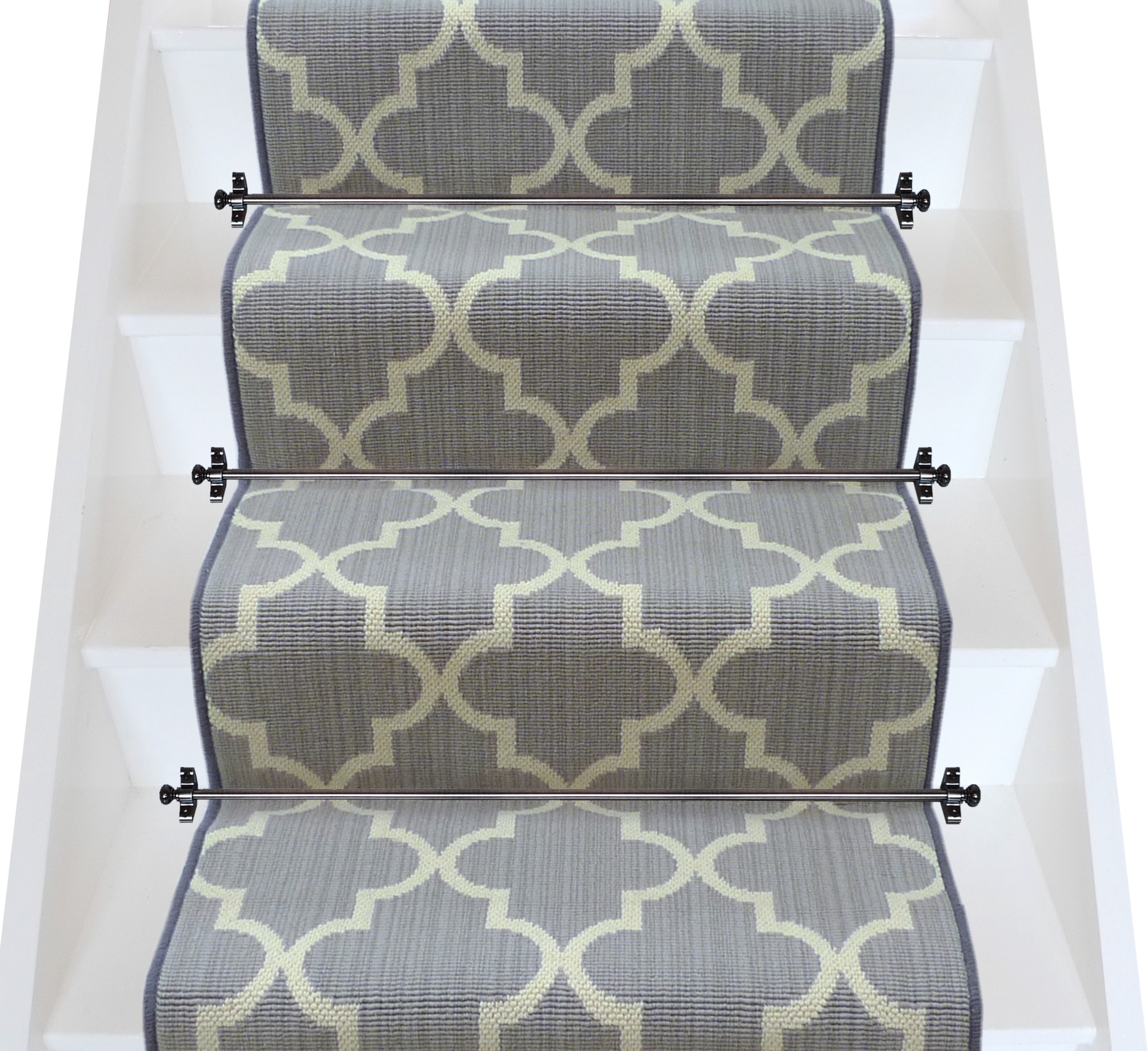 Carpet Runner For Stairs Regarding Rug Runners Grey (#5 of 20)