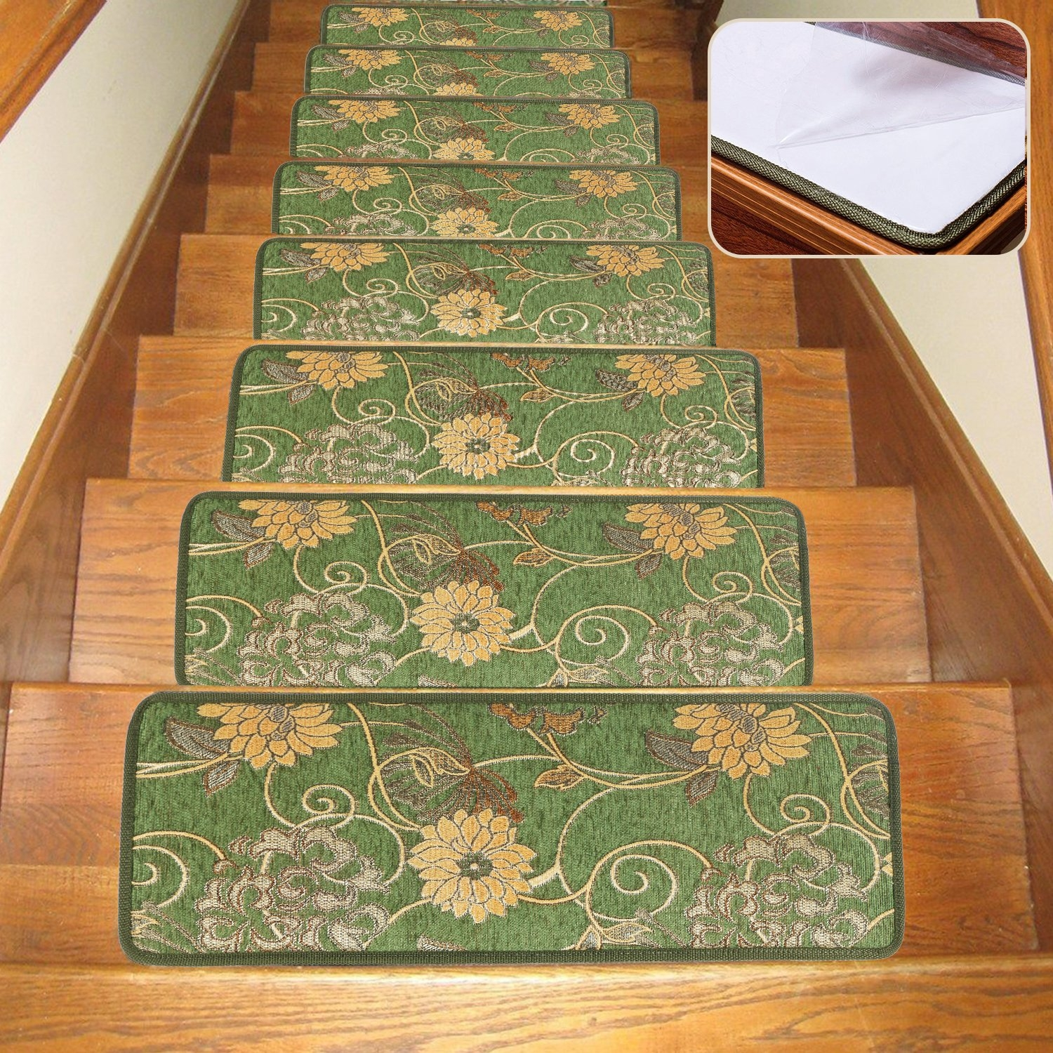 Carpet Skid Resistant Stair Tread Non Slip Indoor Stair Tread Rug Inside Stair Tread Rug Covers (#1 of 20)