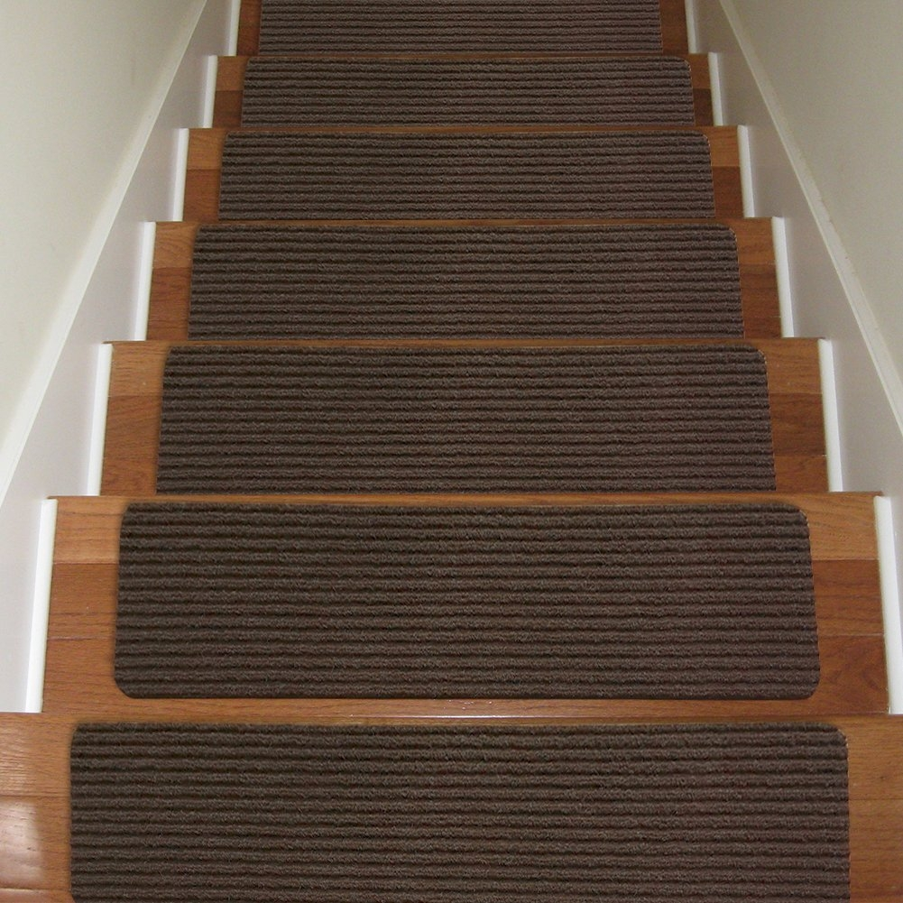 Carpet Stair Treads Non Slip Set Of 13 Indoor Stair Tread Rugs With Regard To 8 Inch Stair Tread Rugs (#7 of 20)