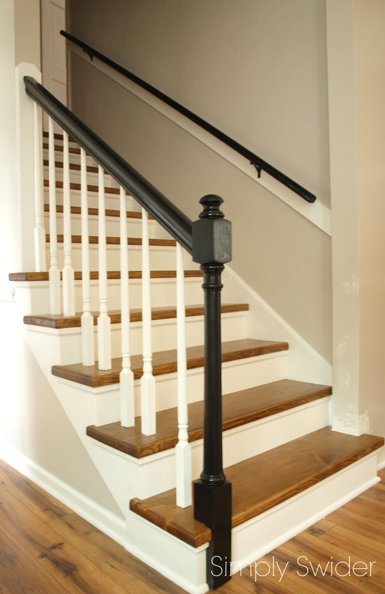 Carpet To Wood Stair Makeover Reveal Simply Swider With Carpet For Wood Stairs (#6 of 20)