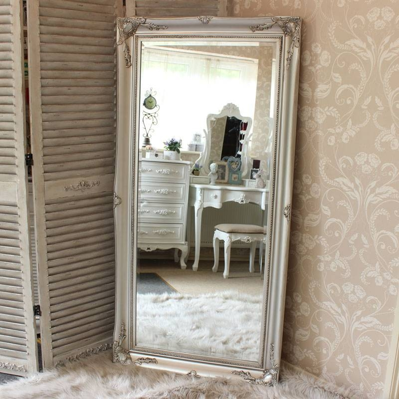 Carved Floor Mirrors For Living Room – Carameloffers Throughout Big Silver Mirrors (#9 of 20)