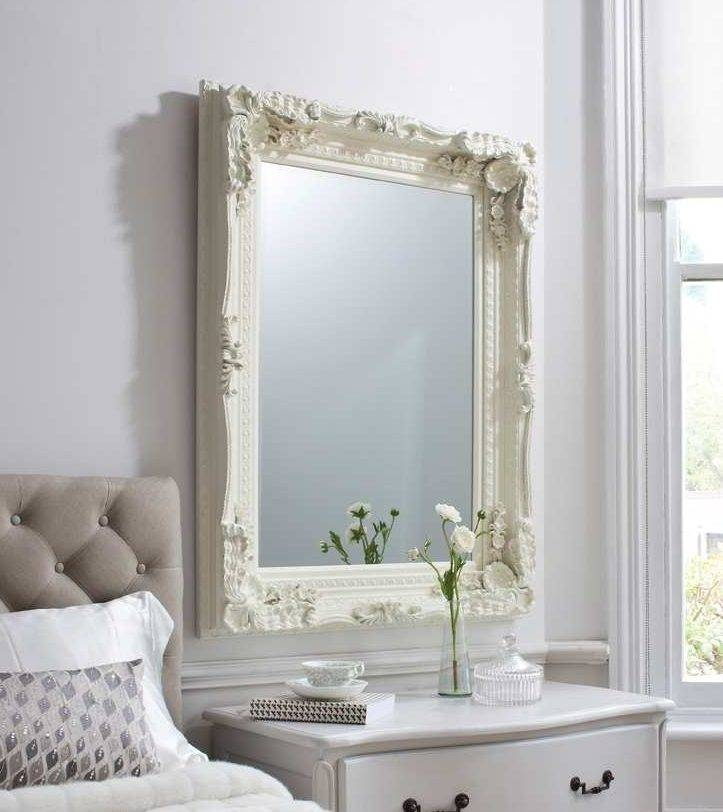 Carved Ornate Framed Cream Wall Mirror | French Mirror Company Regarding Cream Ornate Mirrors (#10 of 20)