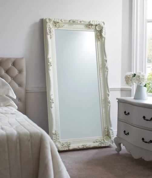 Carved Ornate Framed Cream Wall Mirror | French Mirror Company Throughout Full Length French Mirrors (#14 of 20)