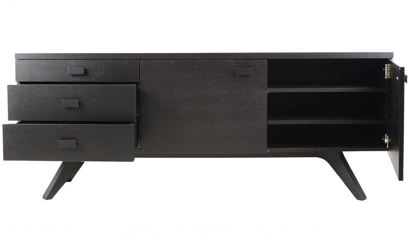 Case Matthew Hilton Cross Sideboard With Regard To Black Sideboards (#2 of 20)