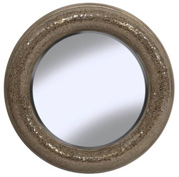 Champagne Gold Round Mosaic Mirror 80Cm | Exclusive Mirrors Within Round Mosaic Mirrors (#12 of 30)