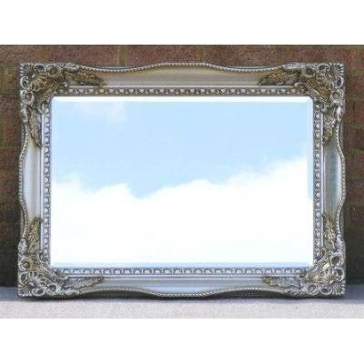 Champagne Silver Vintage Style Tuscany Mirror – Ayers & Graces Intended For Vintage Style Mirrors (#8 of 20)