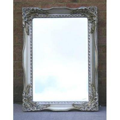 Champagne Silver Vintage Style Tuscany Mirror – Ayers & Graces Within Silver Antique Mirrors (#12 of 20)