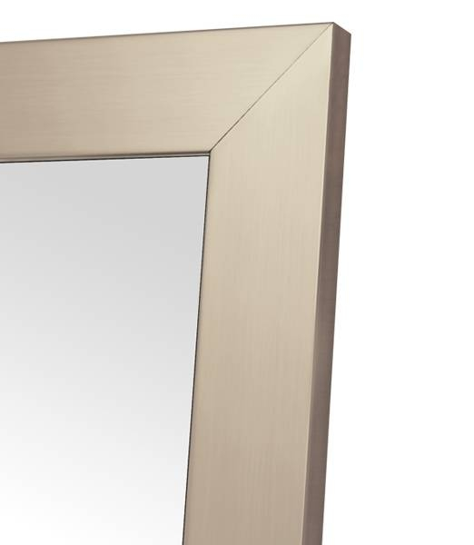 Champagne Stainless Non Beveled Full Length Mirror – Best Hotel For Beveled Full Length Mirrors (#11 of 20)