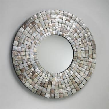 Charming Round Mirror Wall Art Decor Homemirror Set Of Three Within Round Mosaic Wall Mirrors (#6 of 15)