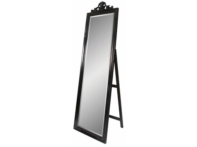 Clle Black Freestanding Mirror Throughout Free Standing Mirrors 10 Of 30