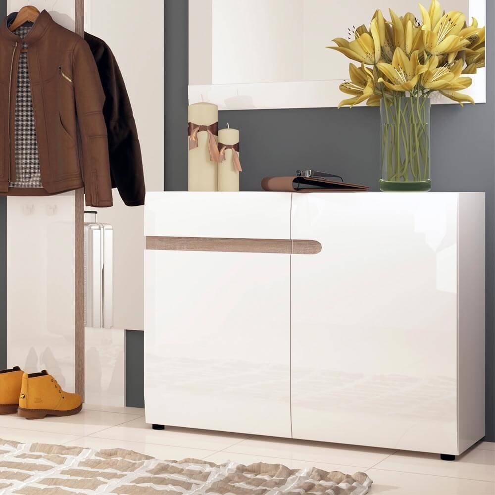 Chelsea White Gloss Sideboards | Sideboards At Zurleys Uk Inside White Gloss Sideboards (#4 of 20)