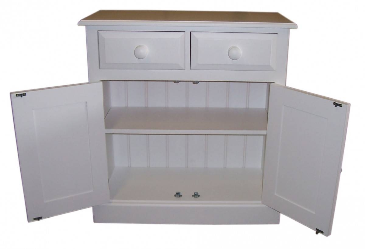 "Cheshire Shallow Depth 2'6"" Sideboard – 2 Door, 2 Drawer #3 Intended For Shallow Sideboard Cabinet (#8 of 20)"