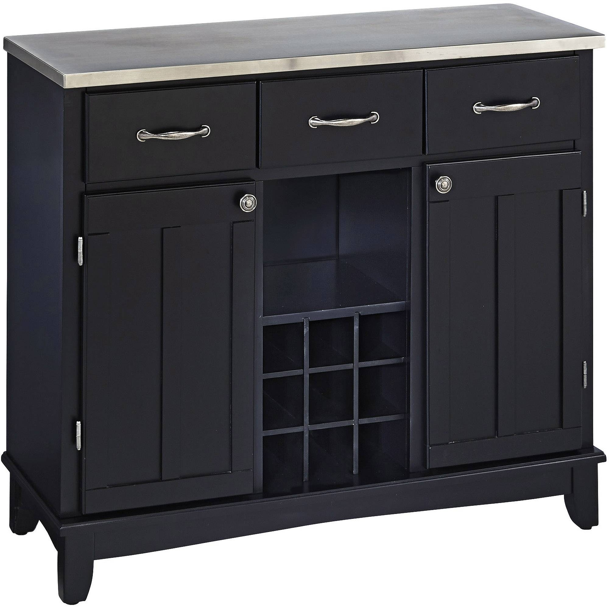 China Cabinet & Buffet Furniture : Kitchen & Dining Furniture Pertaining To Black Sideboard Buffet (#2 of 20)