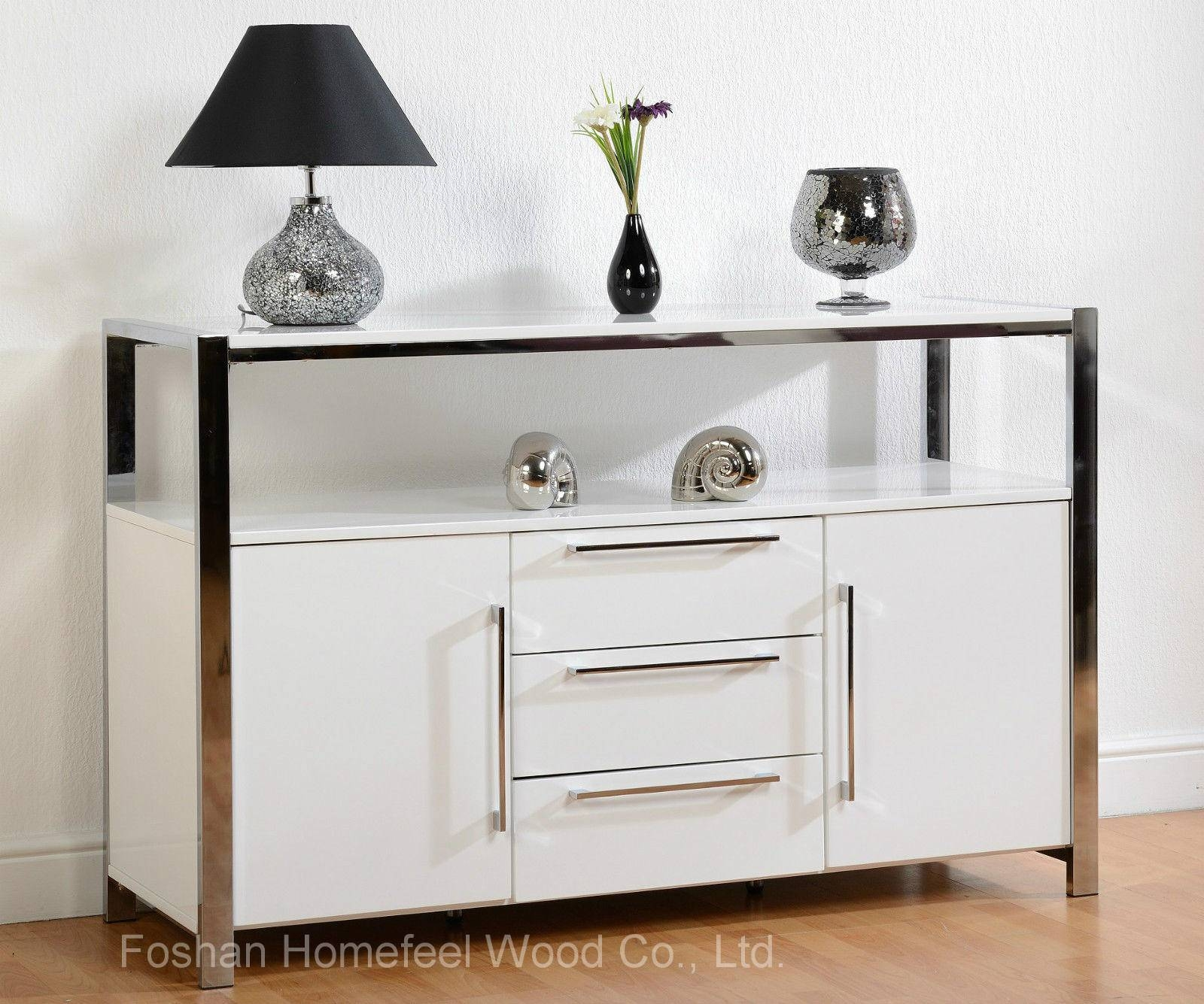 China Contemporary High Gloss White Sideboard Dining Room Storage In Gloss White Sideboard (#8 of 20)