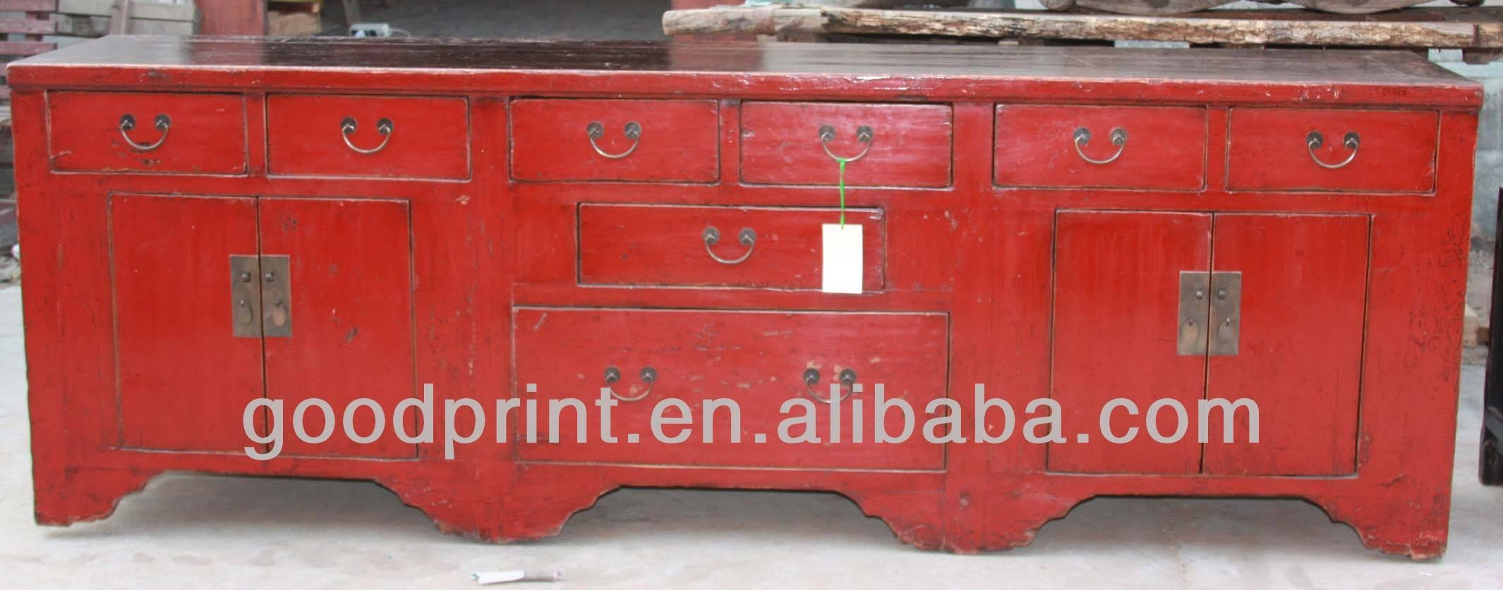 Chinese Antique Red Long Sideboard – Buy Chinese Antique Red Long Inside Chinese Sideboards (View 3 of 20)