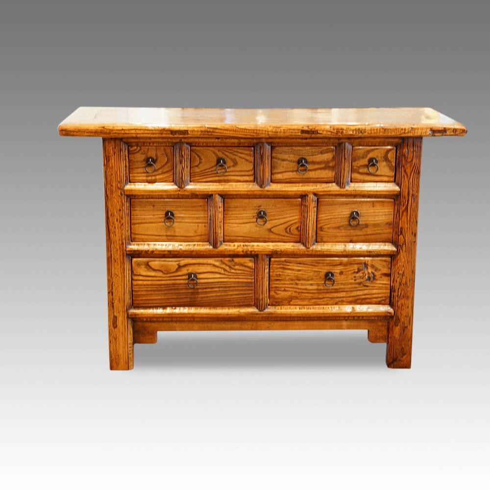 Chinese Elm Multi Drawer Chest Now Sold – Hingstons Antiques Dealers Intended For Multi Drawer Sideboard (#10 of 20)