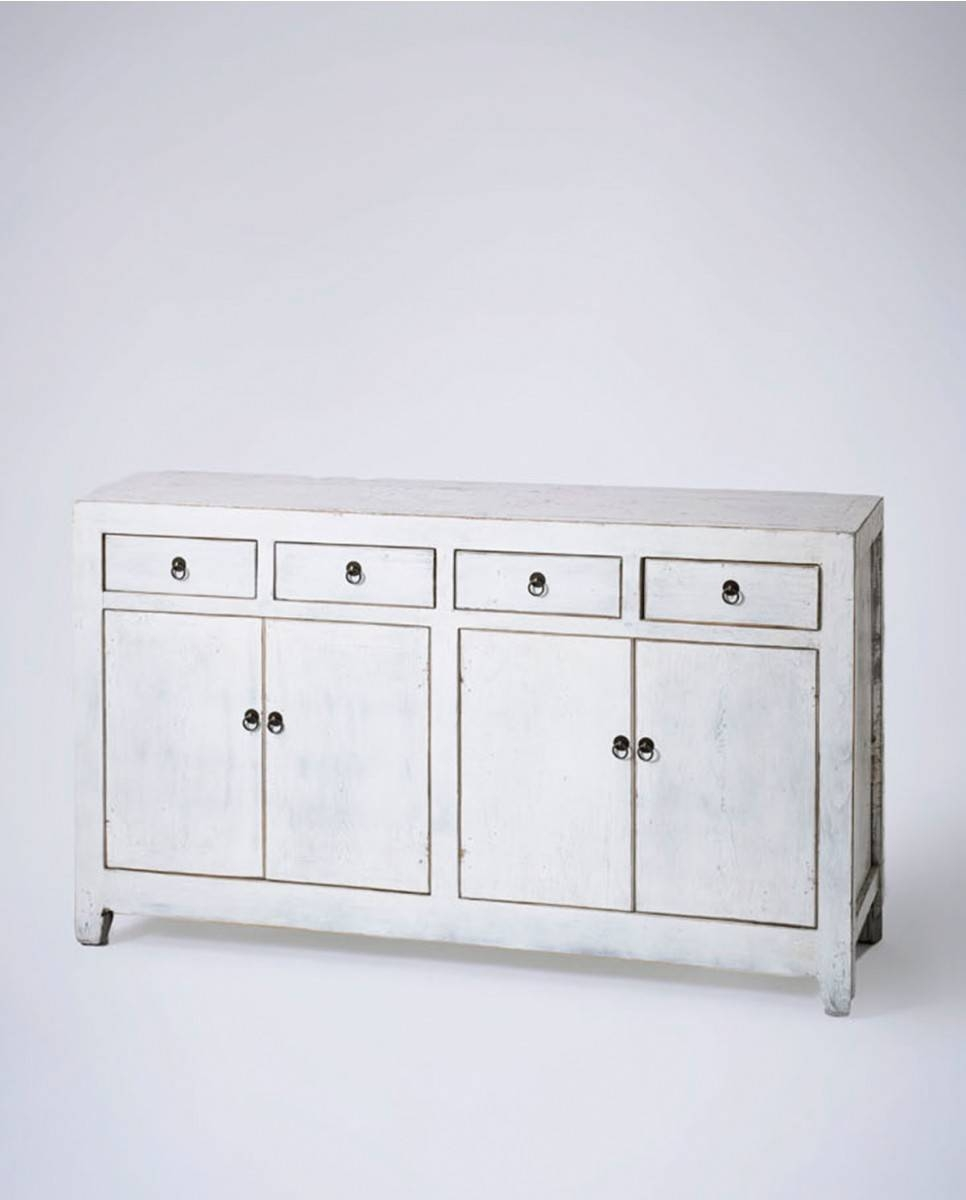 Chinese Sideboard 4 Door, Contemporary White Wood With Sideboard White Wood (View 13 of 20)