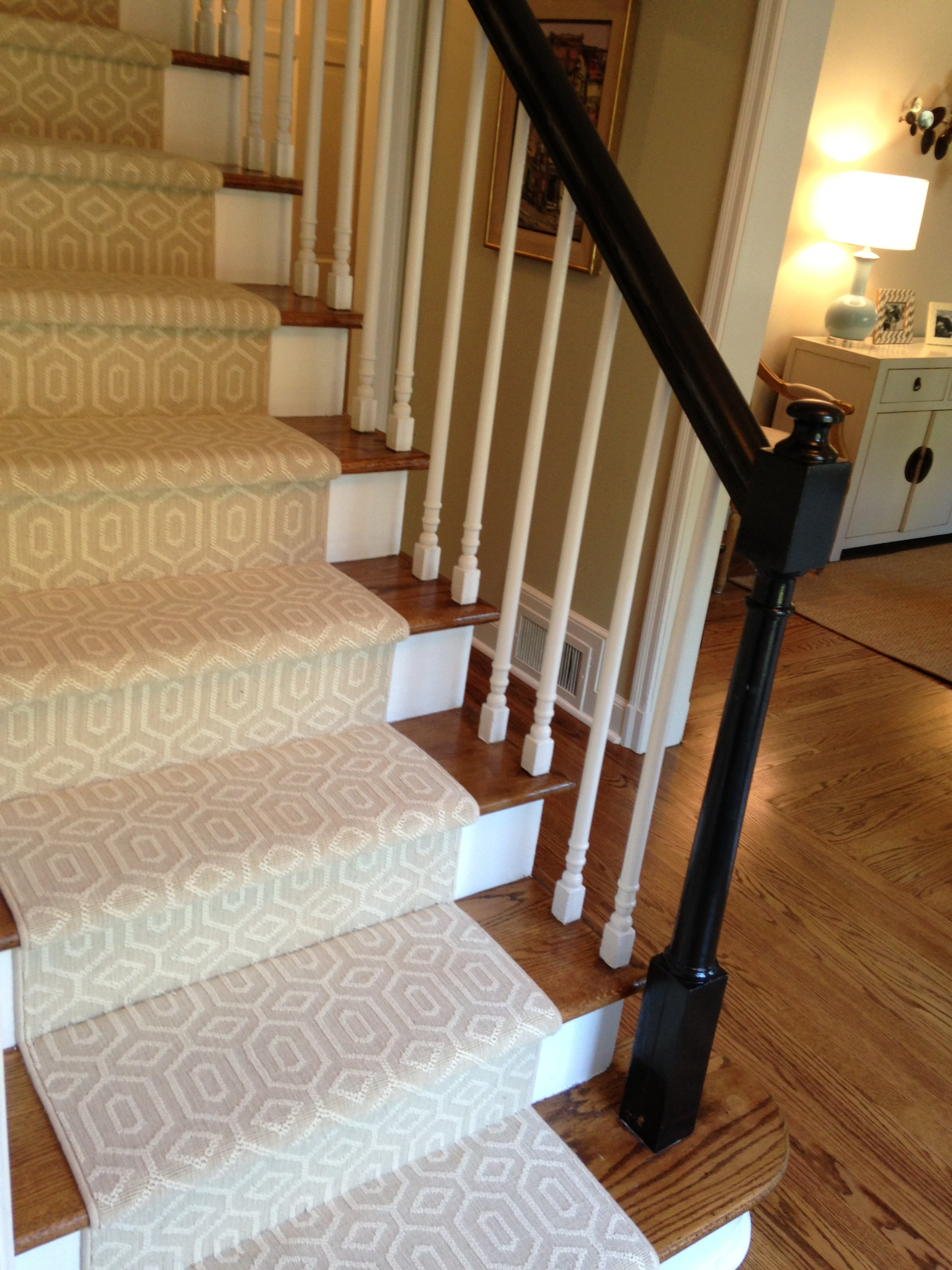Choosing A Stair Runner Some Inspiration And Lessons Learned With Regard To Carpet For Wood Stairs (#8 of 20)