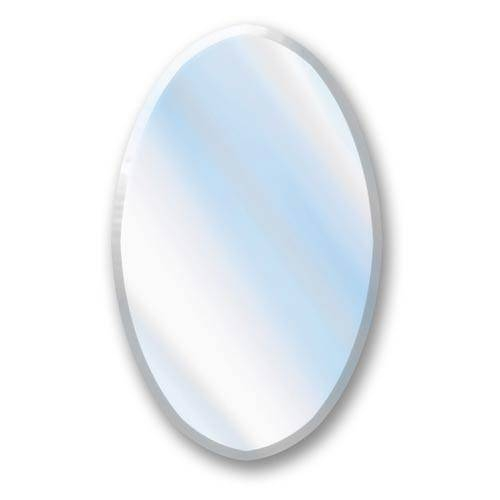 Chrome Frame Oval Bathroom Mirror | Bellacor Intended For Beveled Edge Oval Mirrors (#11 of 20)