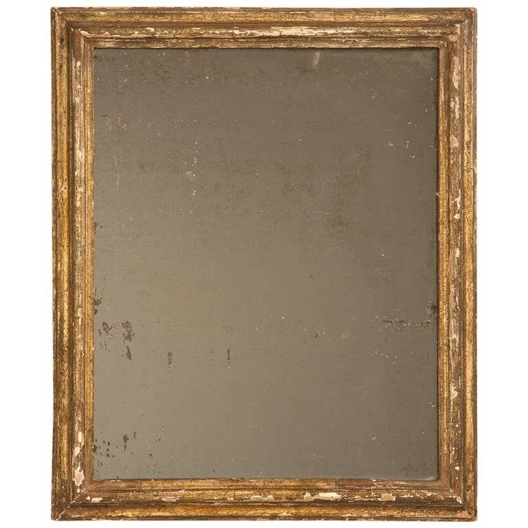Circa 1800 Rustic Original Antique French Gilded Mirror With Heavy For Antique Gilded Mirrors (View 20 of 20)