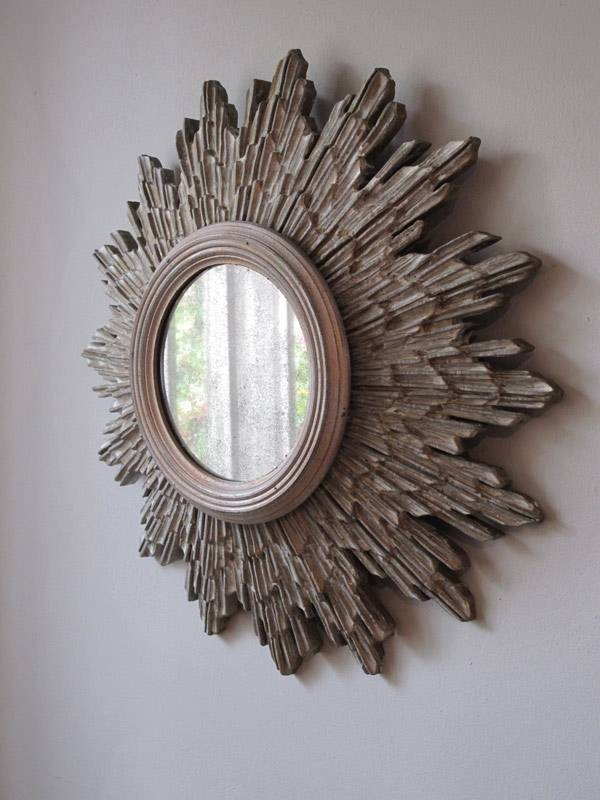 Circa 1930S Sunburst Silver Gilded Mirror – Other Mirrors Regarding Silver Gilded Mirrors (#23 of 30)