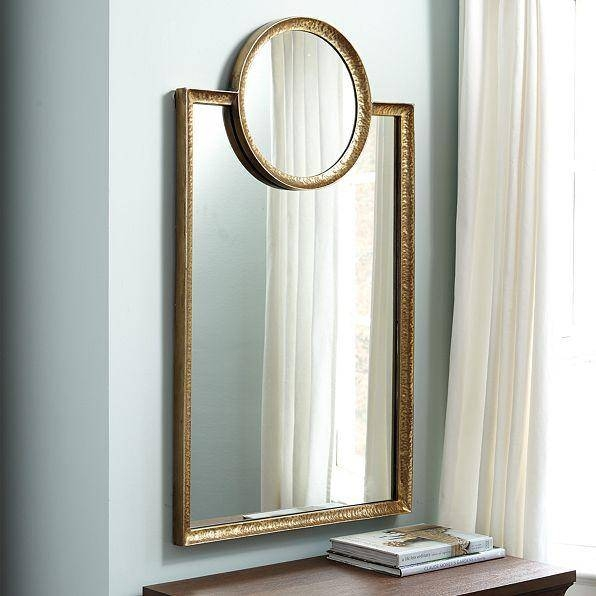 Circle Square Gold Mirror Intended For Square Gold Mirrors (#10 of 20)