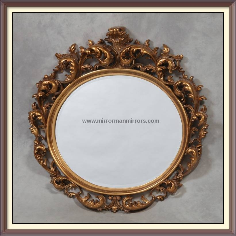 Circular And Oval Mirrors Intended For Gold Rococo Mirrors (View 20 of 20)