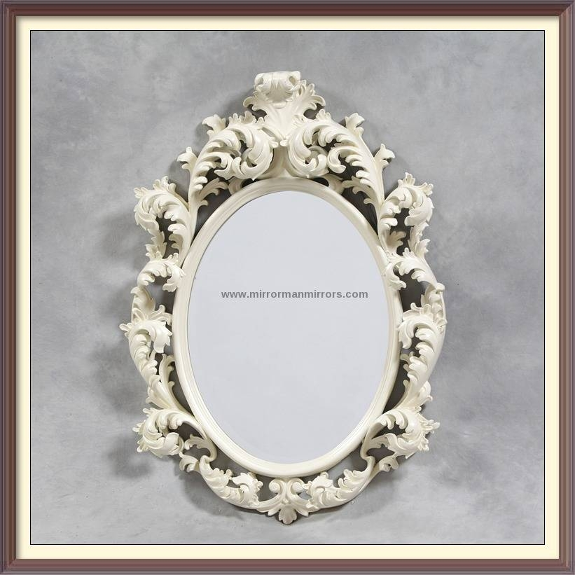 Circular And Oval Mirrors Pertaining To White Rococo Mirrors (#5 of 20)