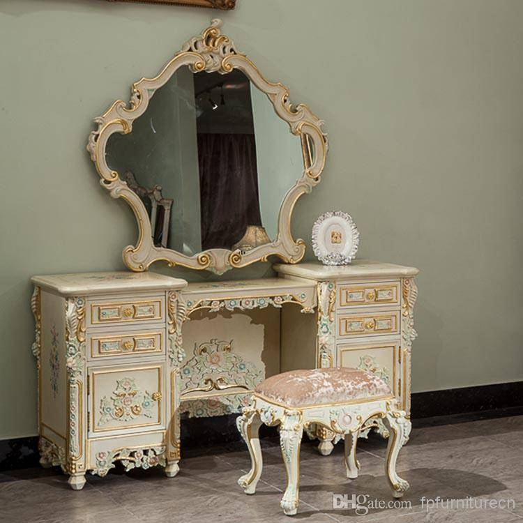 Classic French Style Furniture,handwork Gilding Golden Foil With Cheap French Style Mirrors (View 16 of 30)