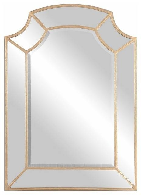 Classic Gold Arch Wall Mirror – Traditional – Wall Mirrors  My Within Gold Arch Mirrors (#8 of 20)