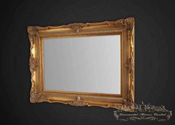 Classic Gold Ornate Mirror From Ornamental Mirrors Limited Regarding Gold Ornate Mirrors (#10 of 20)