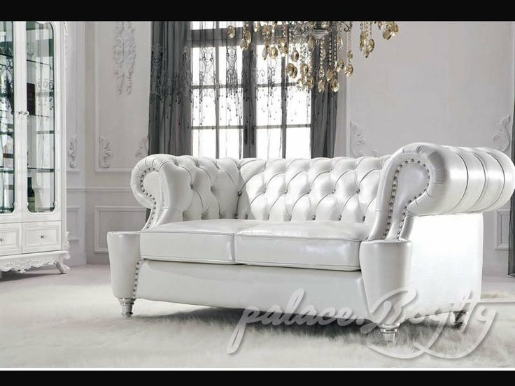 Classic Italian Off White Leather Living Room Sofas Leather For Off White Leather Sofa And Loveseat (#5 of 15)