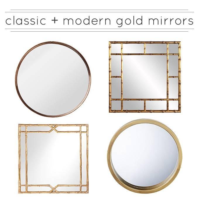 Classic & Modern Gold Mirrors – A Burst Of Beautiful Inside Modern Gold Mirrors (View 18 of 20)