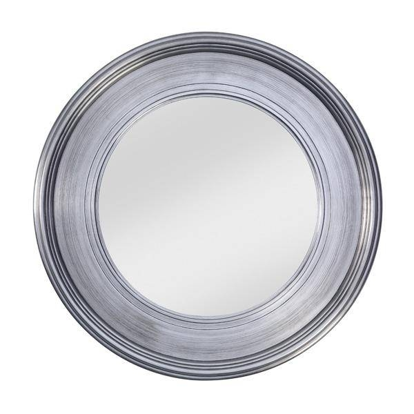 Classic Round Silver Framed Bevelled Wall Mirrordeknudt Within Silver Round Mirrors (#12 of 30)