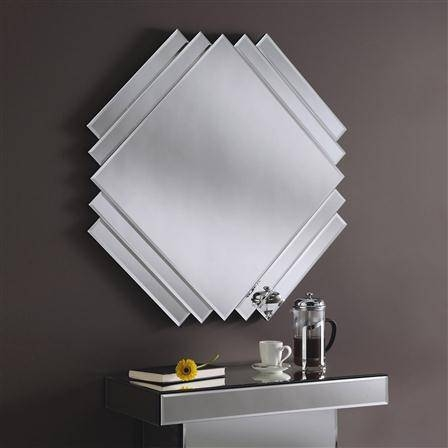 Classic Square Cut Art Deco Mirror 84 X 84 Cm Classic Square Cut For Art Deco Mirrors (#11 of 20)