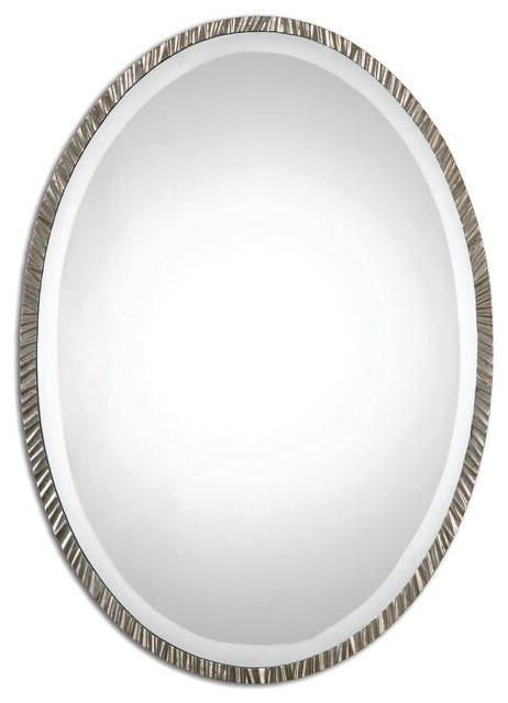 Classic Wall Mirror, Silver – Transitional – Wall Mirrors – For Silver Oval Mirrors (#5 of 20)