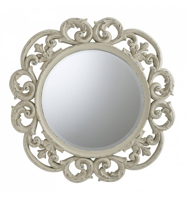 Clayton Cream Mirror Clayton Cream Mirror – Cream Wall Mirrors Intended For Cream Wall Mirrors (View 7 of 20)