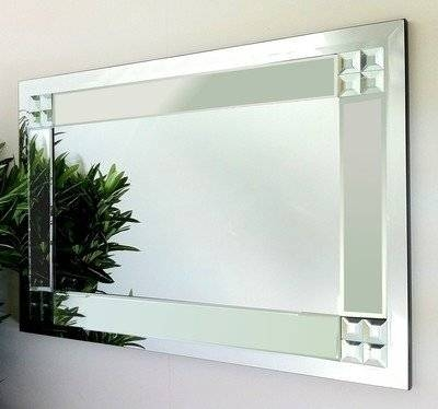 Clear Glass Bevelled Mirror 92X61Cm Throughout Bevelled Glass Mirrors (#12 of 20)