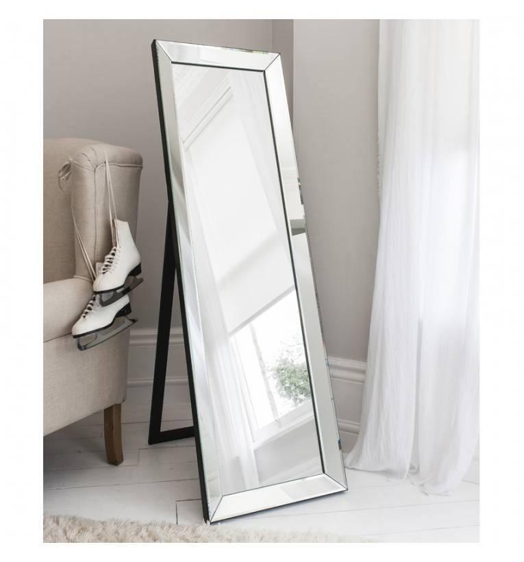 Clear Glass Framed Cheval 155 X 48Cm Clear Glass Cheval Mirror Regarding Cheval Freestanding Mirrors (#19 of 30)