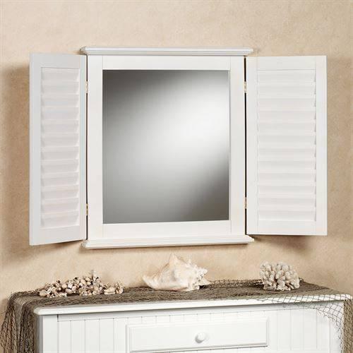 Coastal Shutter Wall Mirror Pertaining To Window Shutter Mirrors (#13 of 30)