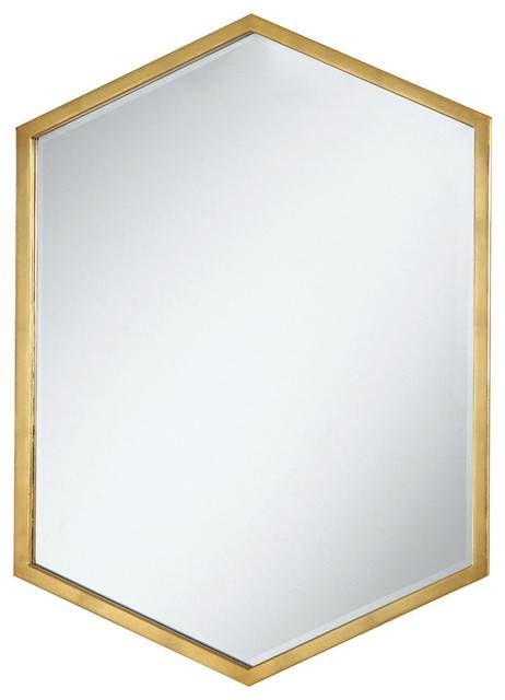Coaster Mirror, Gold – Contemporary – Wall Mirrors  Zfurniture Regarding Gold Wall Mirrors (#16 of 30)