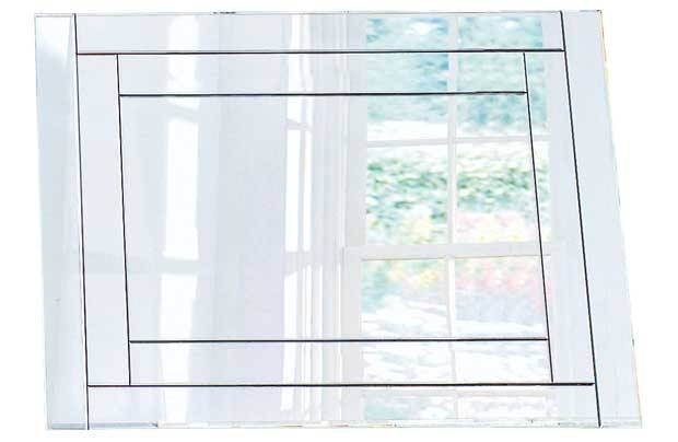Collection Double Bevelled Glass Wall Mirror – Silver (6244839 With Regard To Double Bevelled Mirrors (View 10 of 30)